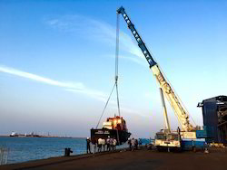 Port Crane - Discharging of Pilot Boat