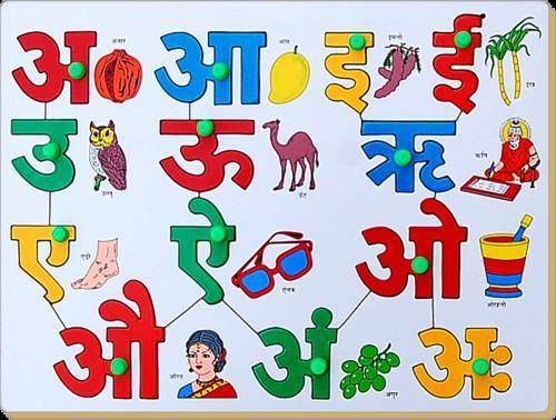 Hindi Vowels With Picture Match At Rs 225 00 Piece S Alphabet