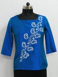 Casual Wear Hand Embroidered Top