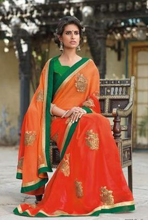 Designer Embroidered Sarees - Radha Saree Wholesaler from Nagdaha 20df2e3747