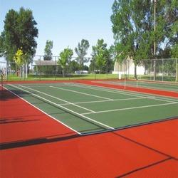 Asian Flooring Blue and Green Universities Volleyball Synthetic Flooring