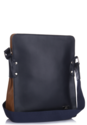Tan Blue Messenger Bag