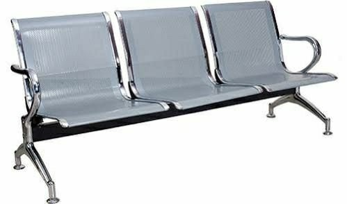 Batcha Furnitures Stainless Steel 3 Seater Chair, for Hospital