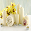 White Spa Candles