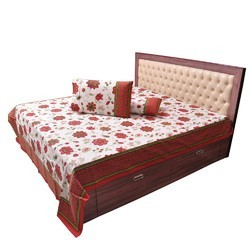 Floral Printed Double Bed Sheet Set 506
