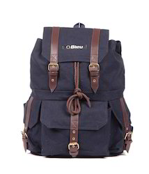 Dark Purple Canvas Backpack Bag