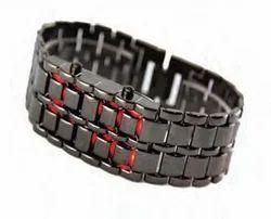Men Rectangular LED Bracelet Watch, for Daily