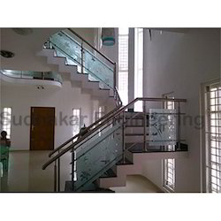 Modern SS Handrail With Glass