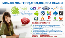 MCA, BE Internship and Live Project Training