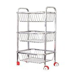 Ss 304 2 Feet Stainless Steel Fruit And Vegetable Trolley