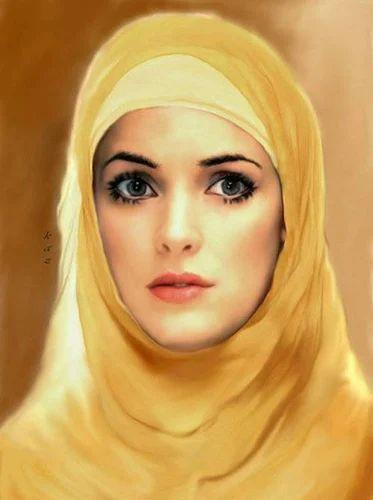 arabic woman portrait painting at rs 5000 piece s kasarwadi