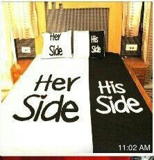 His Side Her Side Bed-Sheet