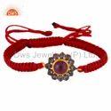 Designer Macrame Silver Diamond Bracelet Jewelry