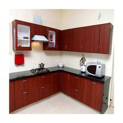 Brown Post Forming Modular Kitchen
