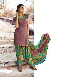 Unstitched Patiala Salwar Suit