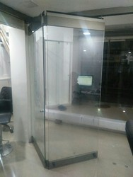 Sliding folding glass door