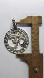 Om Pendant Sterling Silver Huge Handmade