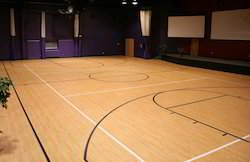 Design Basketball Wooden Court, Finish Type: Glossy