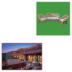 Cane Sofa Set for Resort