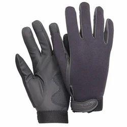 Unisex Black Neoprene Hand Gloves