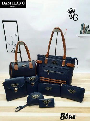 ec0940505 Da Milano Plain Damilano Handbags, Rs 1350 /piece, Royal Socks ...