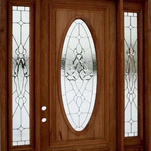 Attractive Multicolor Standard Textured Glass Door