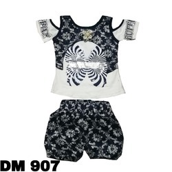 Black And White Kids Girl Casual Hot Pant