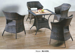 Garden Wicker Chair & Table