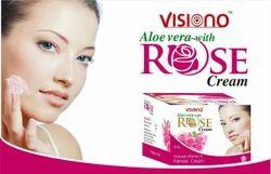 VISIONO Aloe Vera With Rose Cream, Pack Size: Bottel