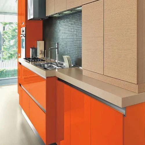 Straight Pvc Modular Kitchen Rs 1000 Square Feet Param Associates Id 11692162133