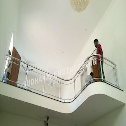 Balcony Stainless Steel Railings With Glass