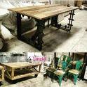 Black Vintage Industrial Wooden Furniture