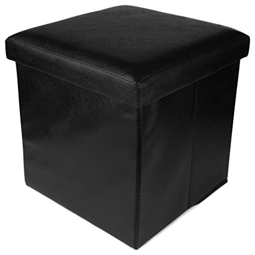 Enjoyable Smart Black Ottoman Storage Box Cum Stool Gmtry Best Dining Table And Chair Ideas Images Gmtryco