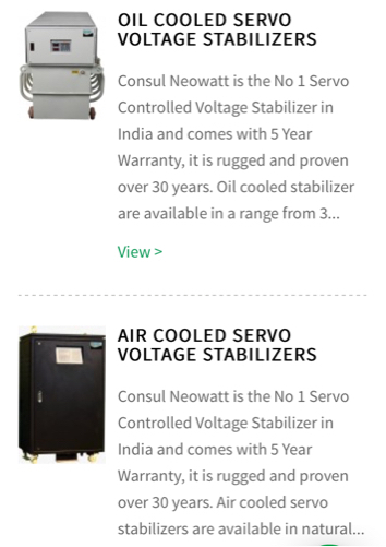 consul neowatt voltage stabilizer