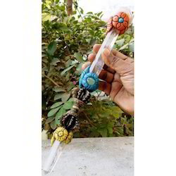 Crystal Brass Crystal Rose Doorjee Wand