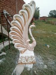 Aluminium Printed Peacock Sculpture, for Decoration