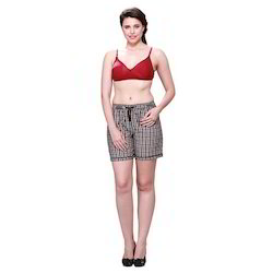 Ladies Check Boxer Shorts