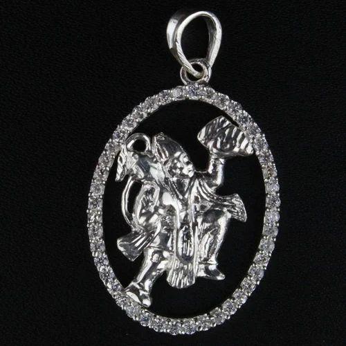 Hanuman silver pendant chandi pendent hanuman silver pendant aloadofball Images