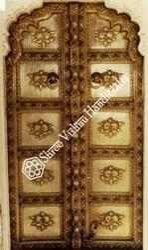 Brass Embossing Pattern Temple Door