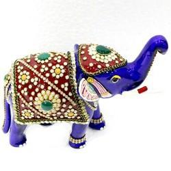 Meena Kundan Jewelry Work Elephant MT011
