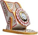 NSB Handicraft-Marble Mobile Stand with Table Clock