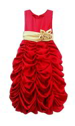 Red with Golden Belt Gown