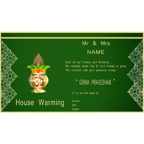 House warming invitation card at rs 20 piece housewarming house warming invitation card stopboris Choice Image