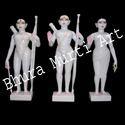 White Marble Iskon Ram Darbar Statue