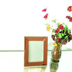 Wood Wall Mounted Red Mirror Photo Frame