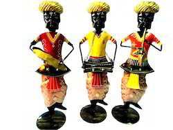 Iron Rajasthani Musical Villagers Statue