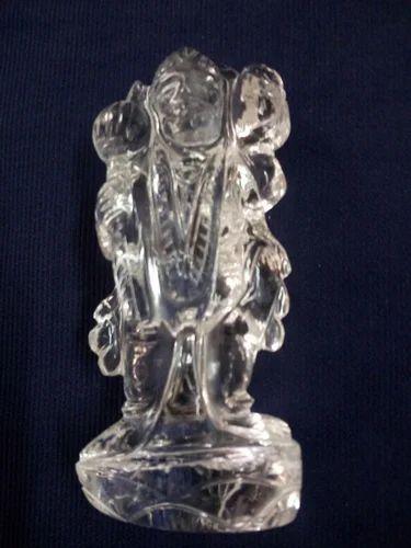Transparent Crystal Hanumanji For Decoration Size 3 5 Inch Rs