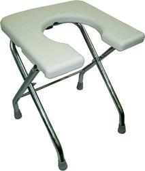U- Cut Chrome Albio Commode Stool
