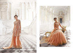 Dark Peach, Beautiful Palazzo Suit