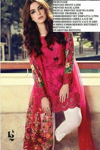 5b049d7bc7 Formal Wear Cotton Maria B Lawn 2017 Original Pakistani Suit, Rs ...